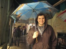 Rainy ghost tour in Venice.
