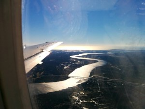 Good morning, beautiful! The Ashley River, as seen from the air.