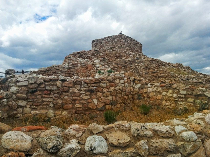 Looking up at Tuzigoot