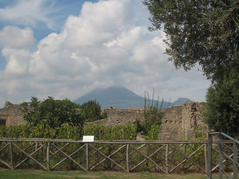 Vesuvius seen from Pomepii.