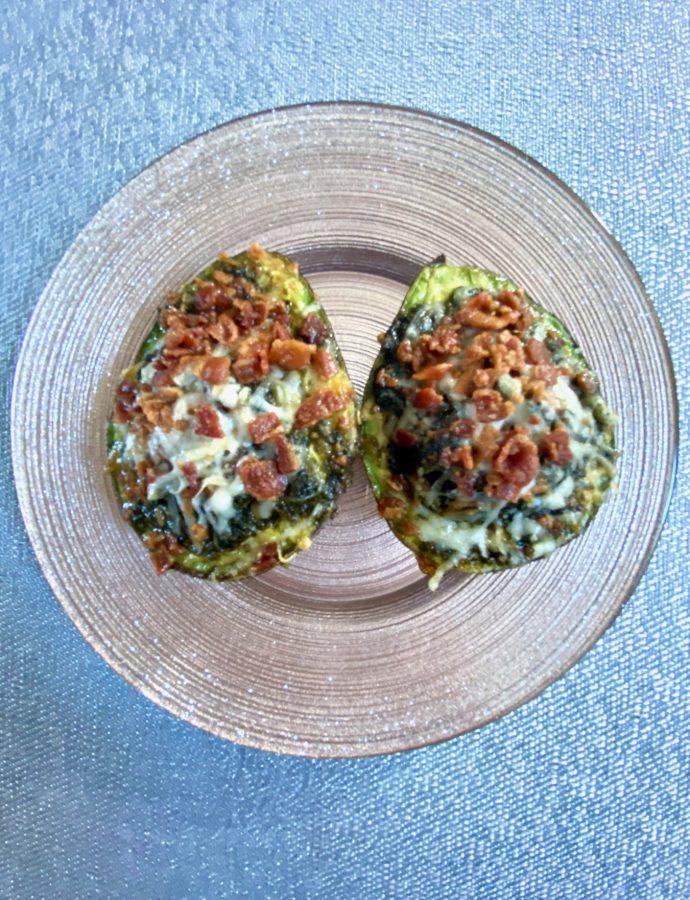 Pesto Avocado Egg Boats