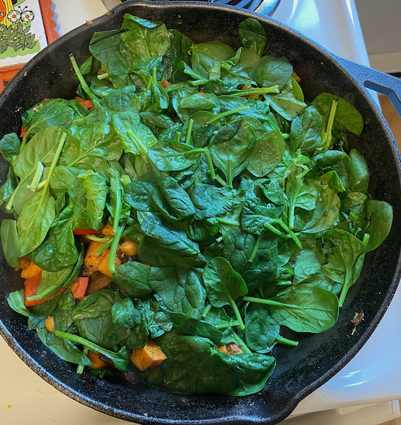 Spinach Over Hash