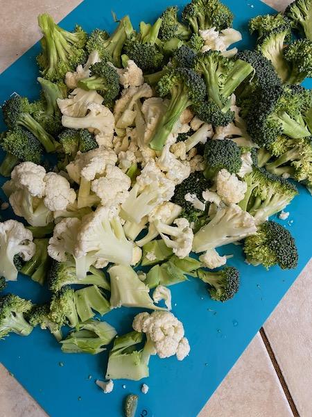 Broccoli and Cauliflower Florets