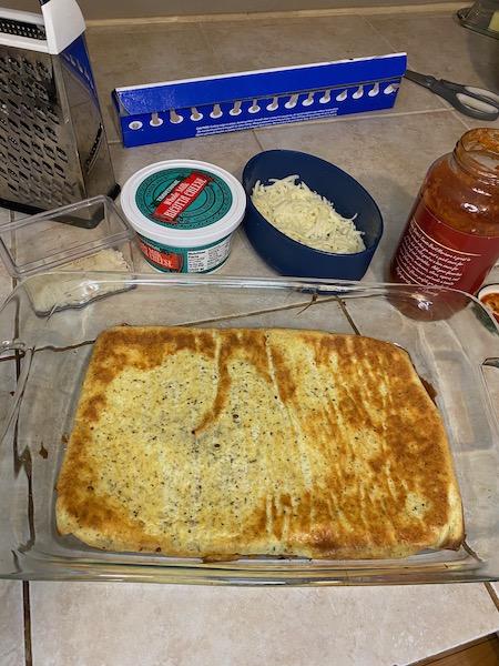 """Cheesy Keto Lasagna Loaf """"Noodle"""""""