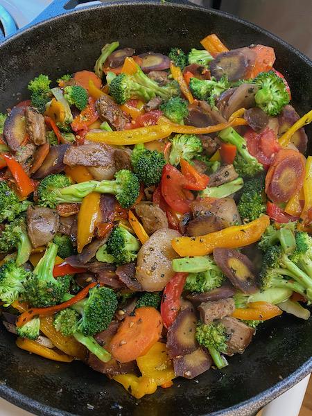 Veggie Skillet with Sausage