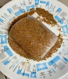 Mahi Mahi Filets Drenched in Cajun Spices