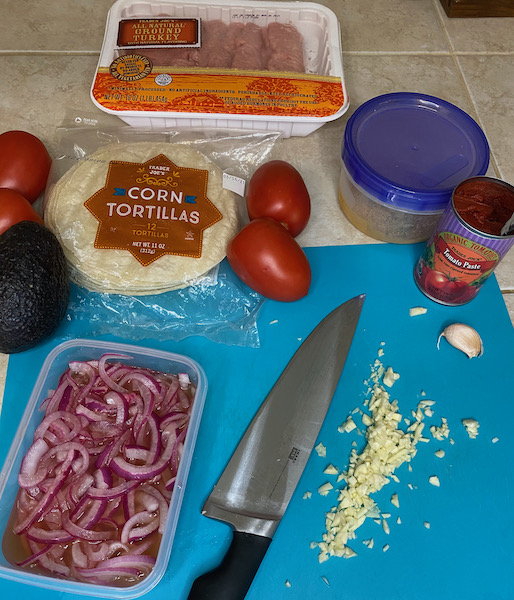 Getting Ready to Make Tacos!
