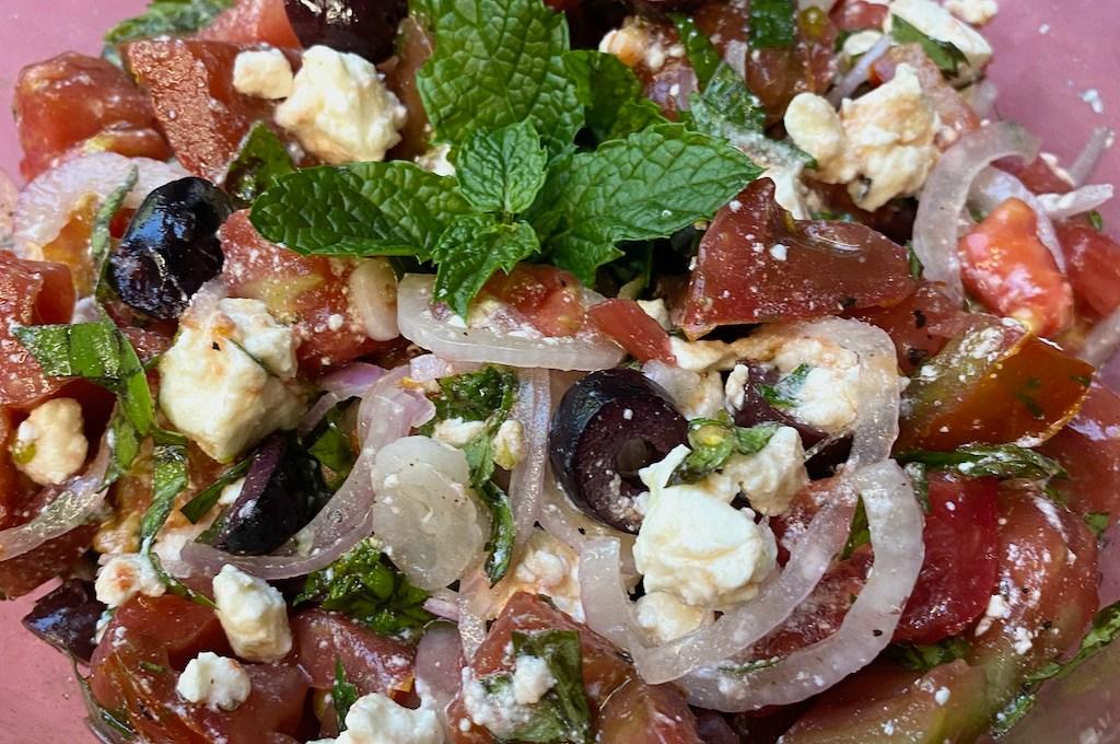 Heirloom Tomato Feta Salad