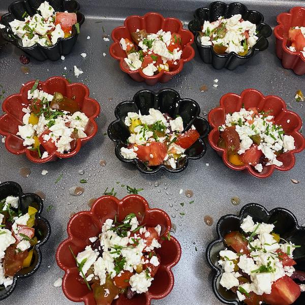 Greek Egg Muffin Veggies with Feta