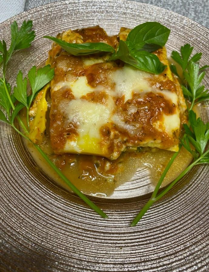 Keto Eggplant Summer Squash Lasagna