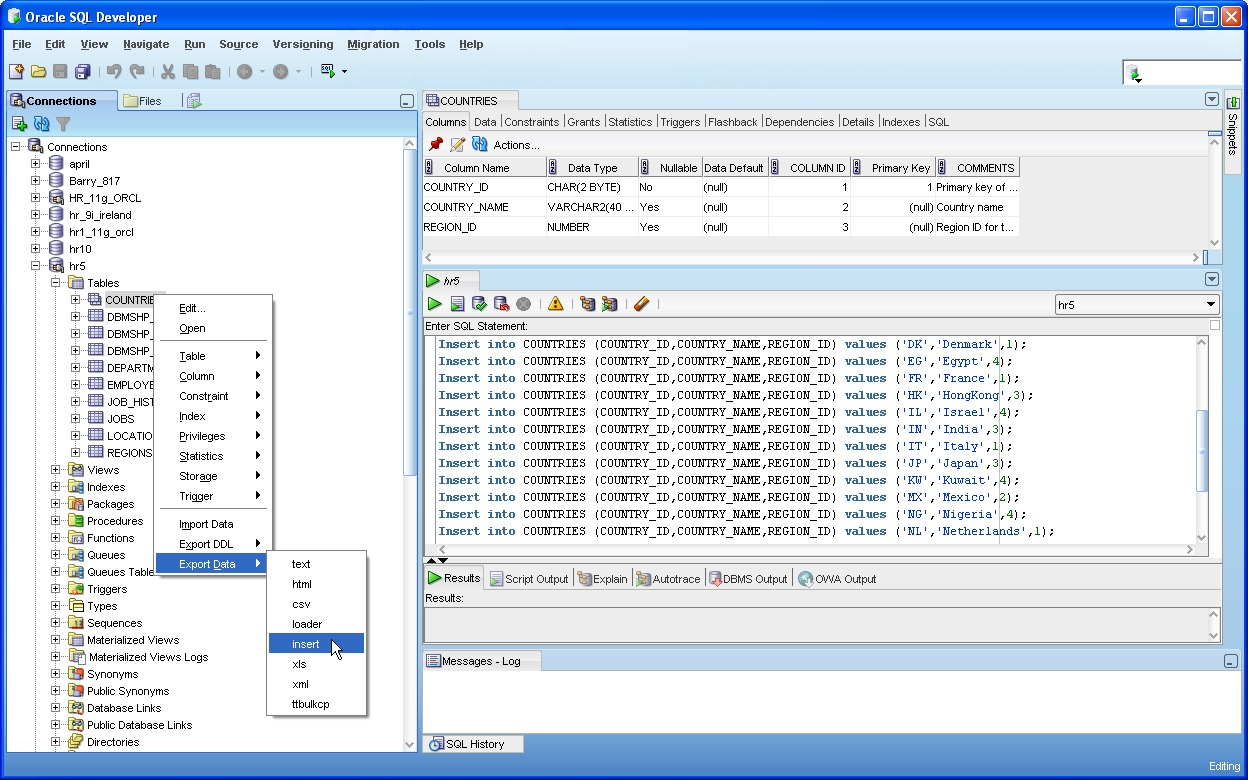 Oracle Sql Developer Screenshots