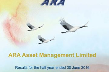 ARA Cover - ARA post 1H16 net profit of S$38.7 million