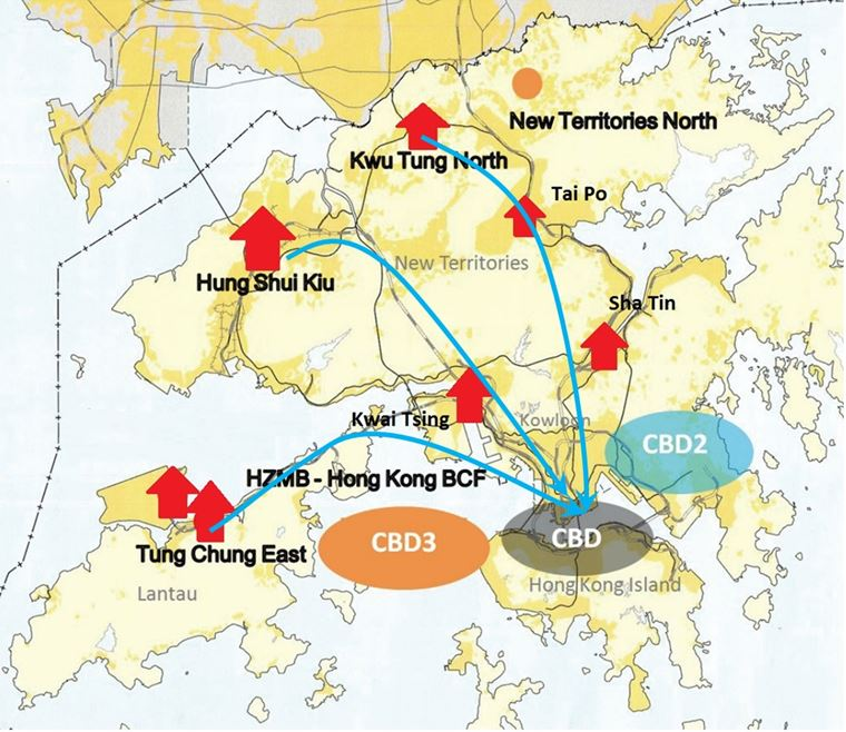 MTR, Metro, Rail, Transport, Hong Kong, Map, Residential, CBD