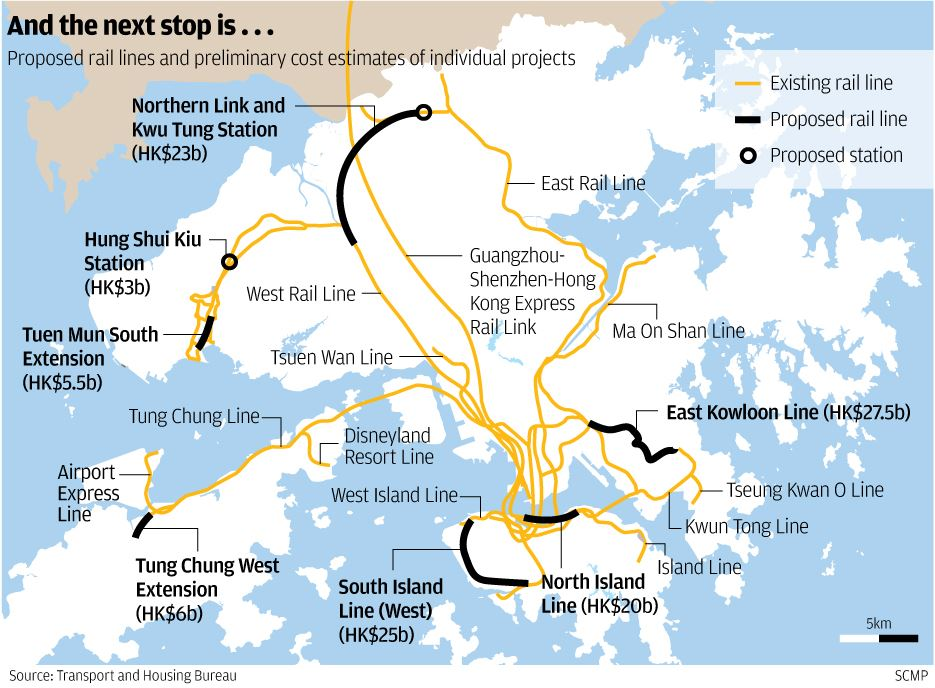 MTR, Metro, Rail, Transport, Hong Kong, Future, Rail, Extension