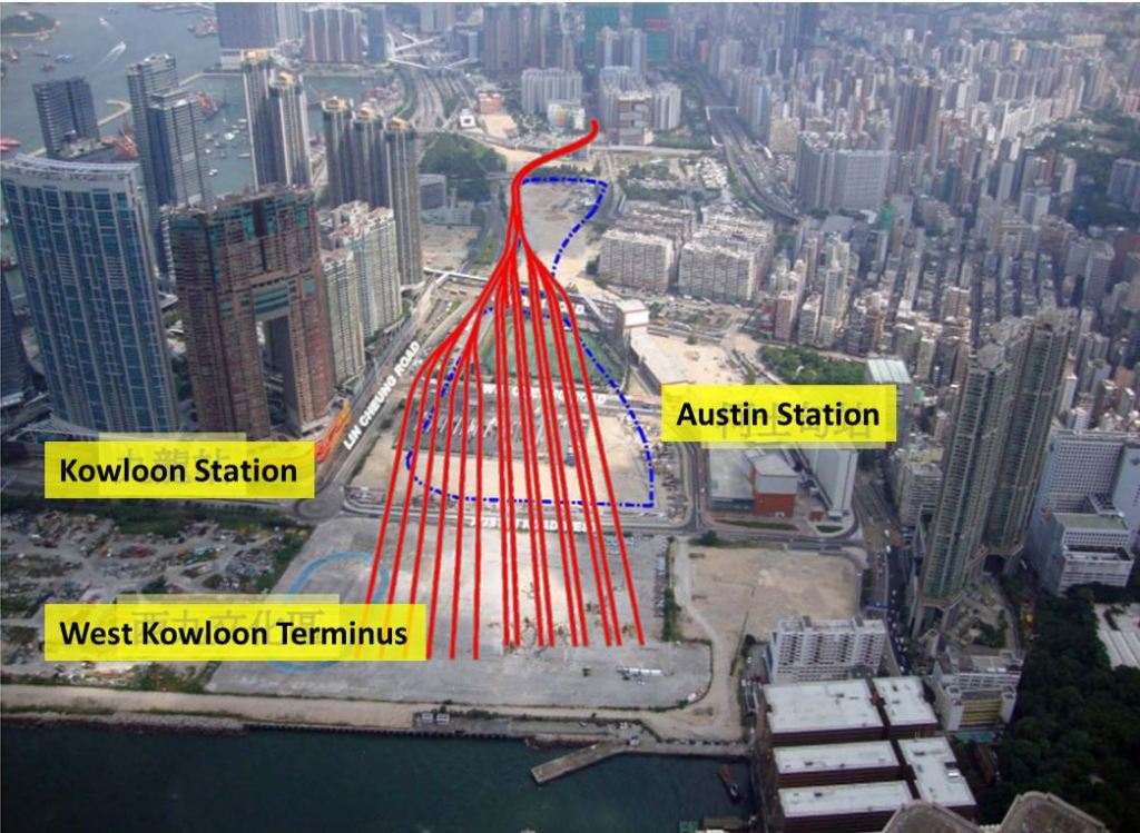 MTR, Metro, Rail, Transport, Hong Kong, XRL, Rail Expansion, High Speed Rail, West Kowloon Terminus, Kowloon Station