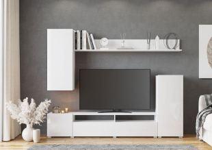 Moderní obývací stěna bývá vzdušná a variabilní