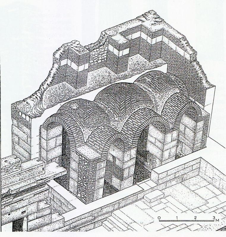 Πύλη Beule. Βόρειος πύργος Ακροπόλεως. Μεσοβυζαντινές θολωτές κατασκευές ενισχύσεως (σχεδ. Δ. Ζιρώ - Μ. Σιγάλ