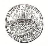 Αναμνηστικό μετάλλιο γαληνοτάτης Δημοκρατίας Βενετίας για την ανατίναξη του Παρθενώνα.