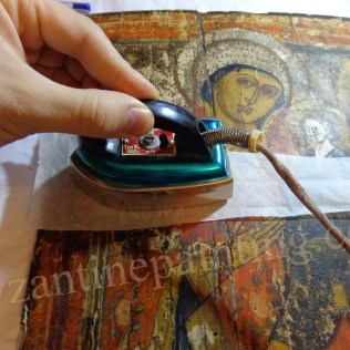 Conservation - restoration wooden painting (Byzantine icon) (2)
