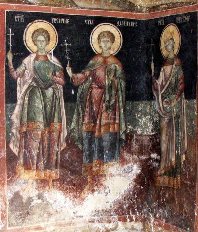 mural painting monastery cozia