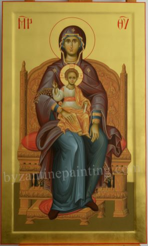 MOTHER OF GOD-ICON PAINTED FOR ICONOSTASIS. DUMITRESCU STUDIO ICONOGRAPHY