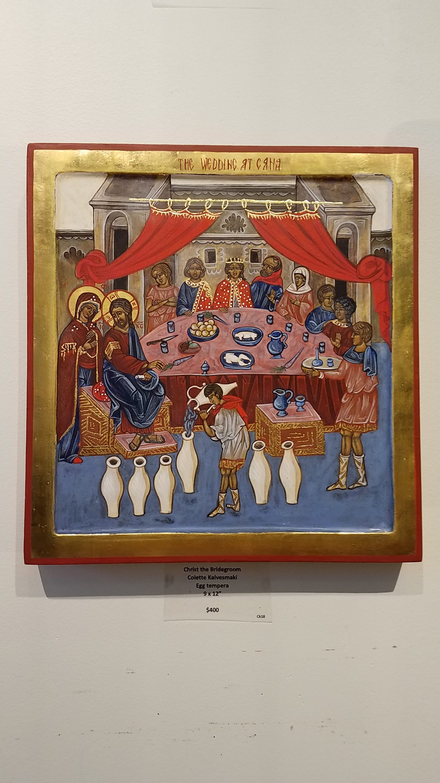 Egg tempera Icon by Colette