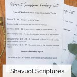Shavuot Scriptures Reading Printable on a table