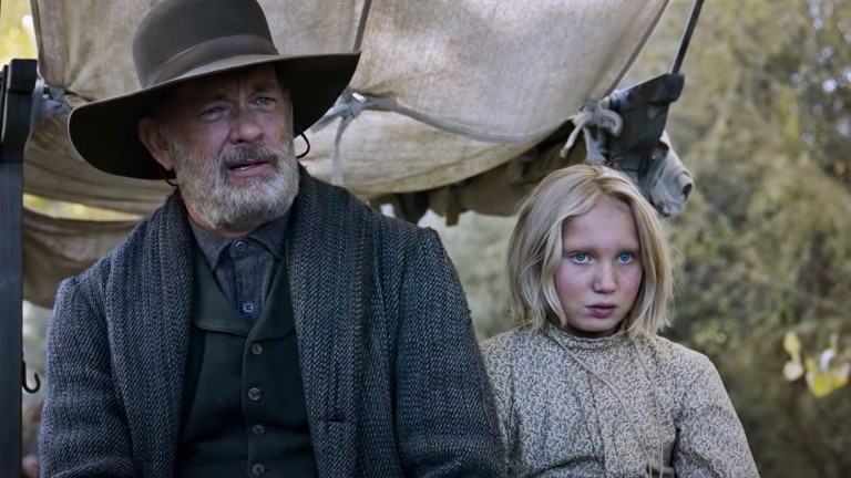 Tom Hanks and Helena Zengel in a film scene from