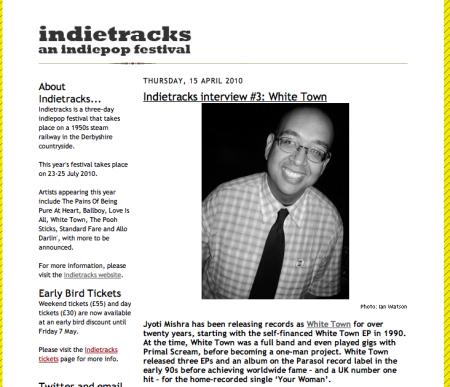 Indietracks Interview