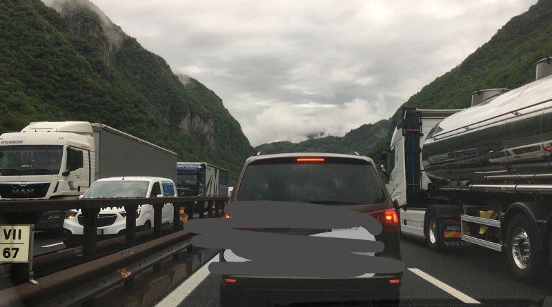 Lunghe code in A22 tra Bressanone e Chiusa: un'ora per percorrere due chilometri