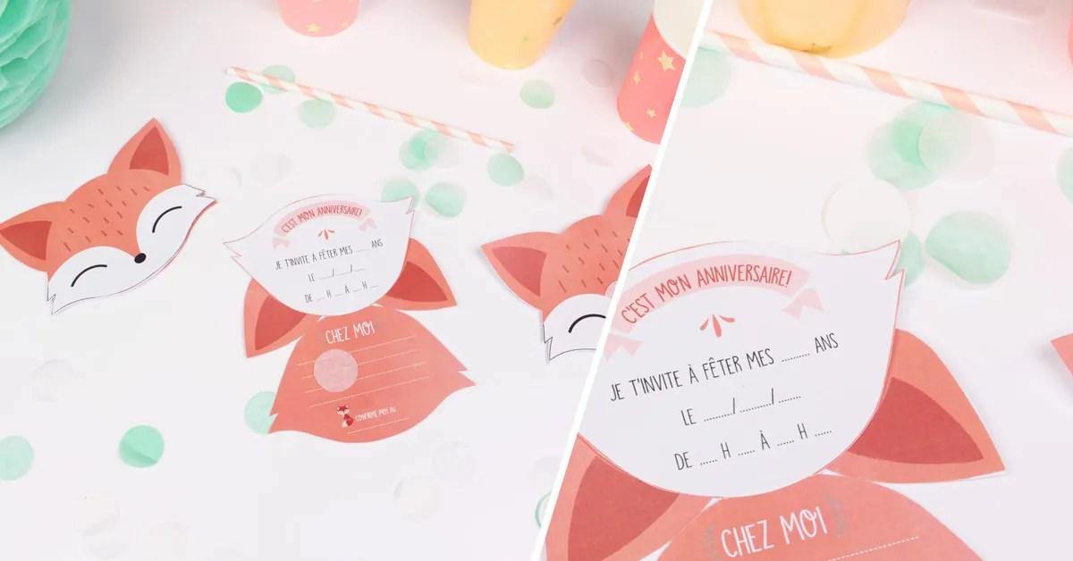 invitation anniversaire renard a