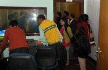 Participants of the Consultation at the studio of Radio Brahmaputra.