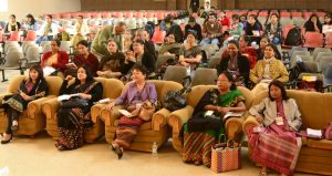 BUILDING BRIDGES: Human Rights & Women's Issues in Northeast and beyond...a section of the audience at Cotton College auditorium, Guwahati