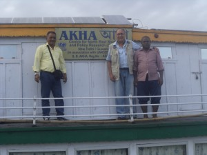Onboard Akha the Dibrugarh Boat Clinic anchored at Maijanghat