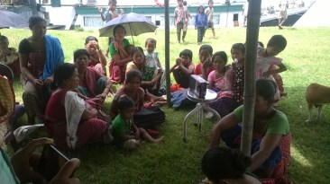 The awareness generation camp at Dibrugarh's Aichung village