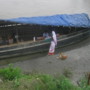 The boat hired for the flood relief camp on 12th June, 2015