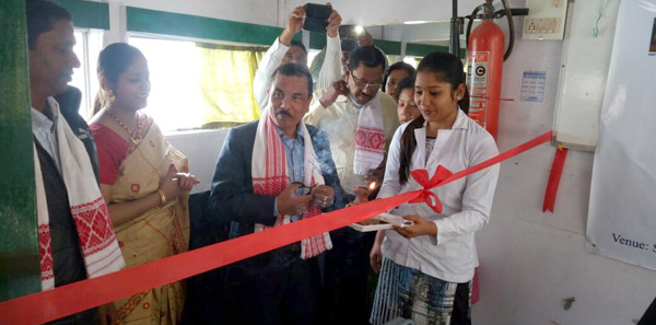 Dr. Amrit Saikia, inaugurating the dental service in the Jorhat Boat Clinic