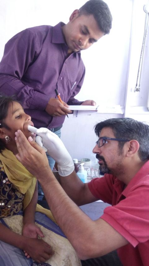 Dr Kuldeep attends to patients in Bongaigaon