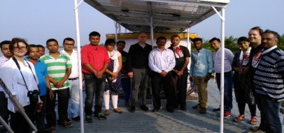 On 28th April 2017, SELCO officials led by Harish Hunde visited the Jorhat Boat Clinic at Nimatighat and was delighted to see their first solar installation on a Boat Clinic.
