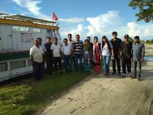 Pratyasha Achrya with the Dibrugarh Boat Clinic team