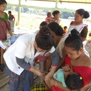 Scenes from a health camp at Tinsukia's Phasidiya village under Hapjan BPHC