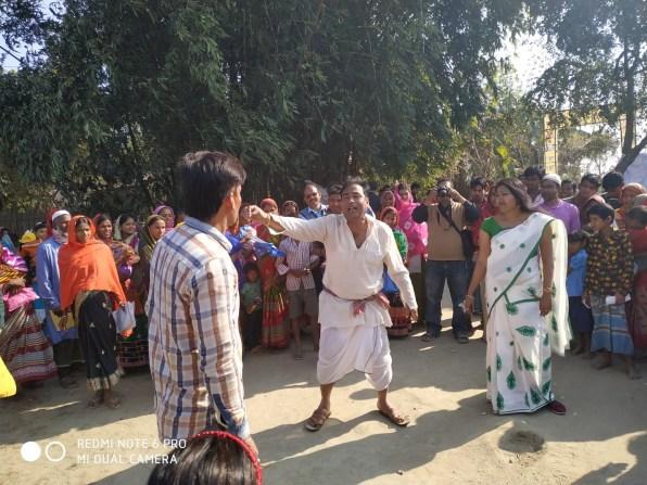 Street play on immunization at Noparapam village, Nalbari