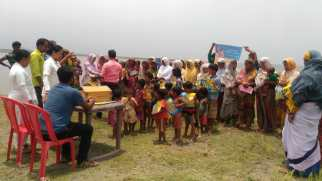 ORS and zinc distribution cum awareness on diarrhoea control at Salmora char Goalpara 28th May 2019 as part of IDCF by the Goalpara Boat Clinic Unit