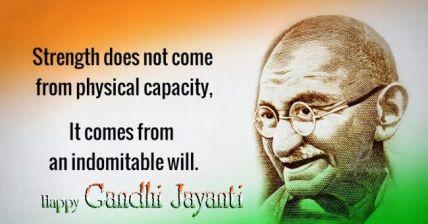 Gandhi Jayanti WhatsApp status 2019