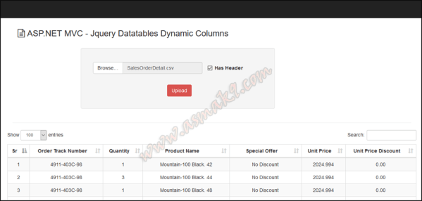 ASP.NET - jQuery Datatables Plugin With Dynamic Numbers Of ...