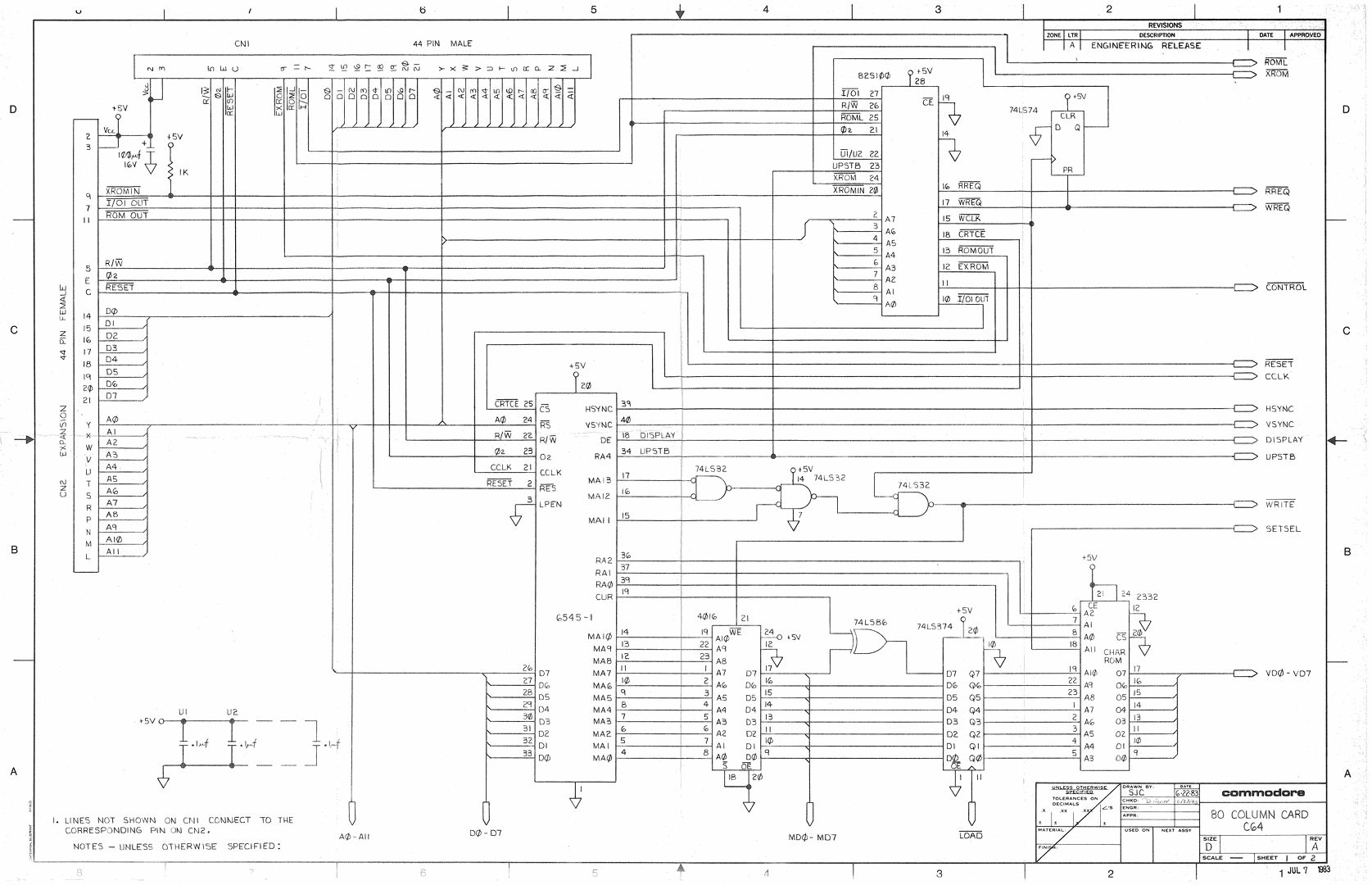 Commodore C64 80 Column Adapter