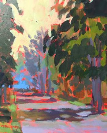 Walking Path - Original Acrylic Painting by Mark Mehaffey