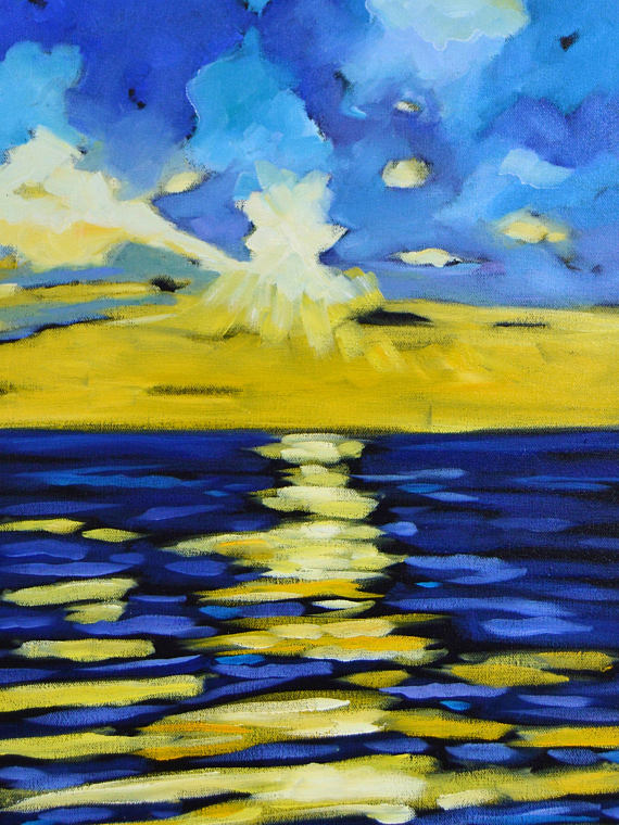 sunset series ii, reproduction of original painting
