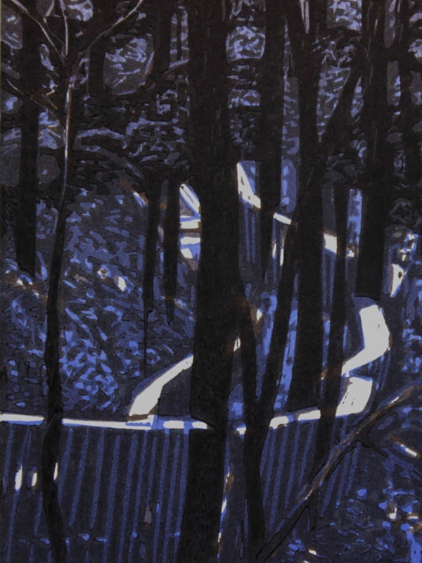 Hike by Lee Ann Frame - woodblock