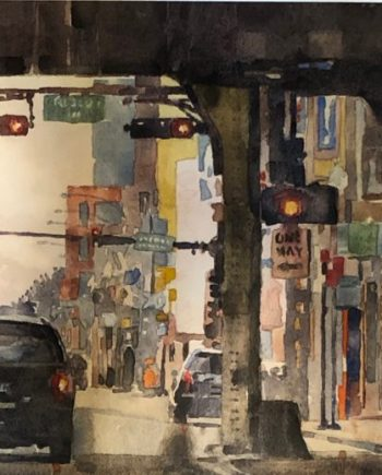 watercolor painting by mark mehaffey